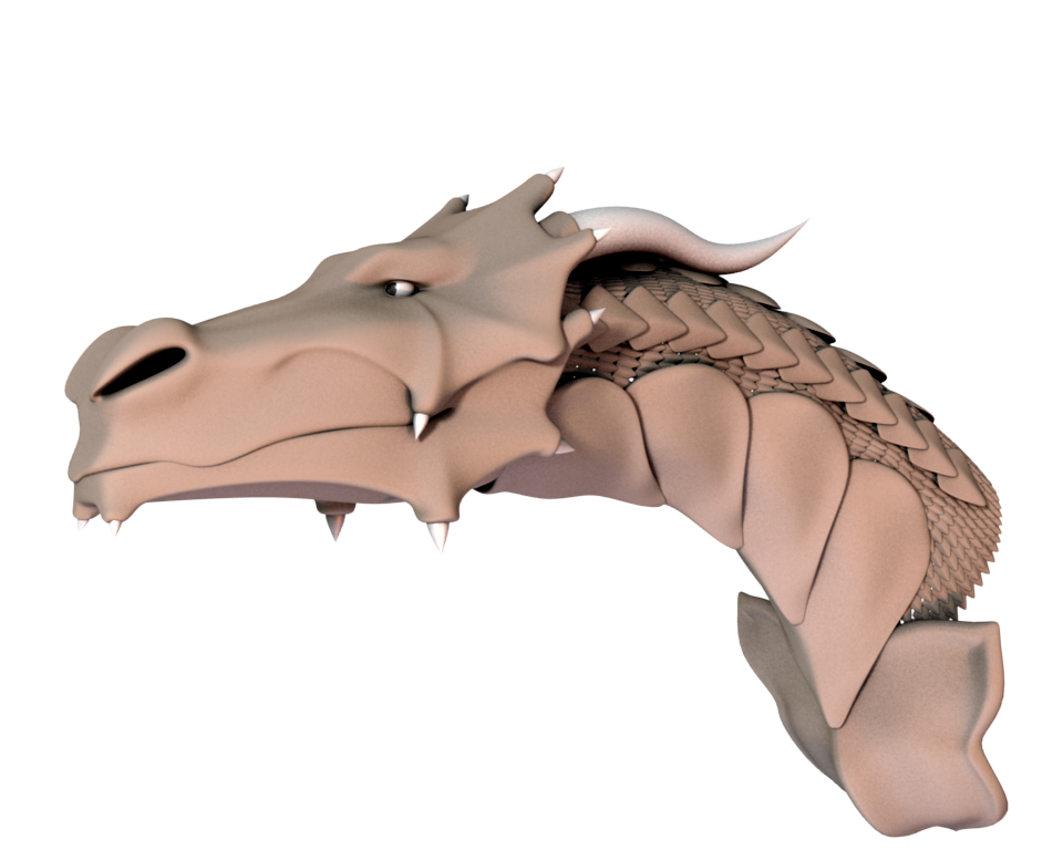 Dragon with scales - Head WIP by panzi