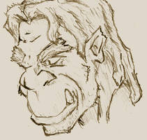 a freehand orc by panzi