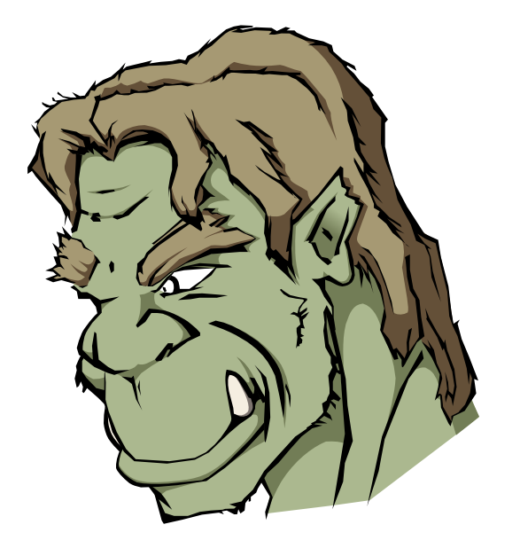 svg orc colored