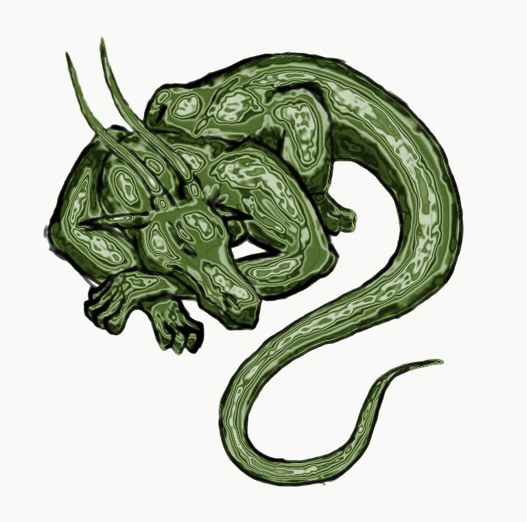 green dragon by panzi