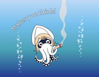Stoner Squid by panzi