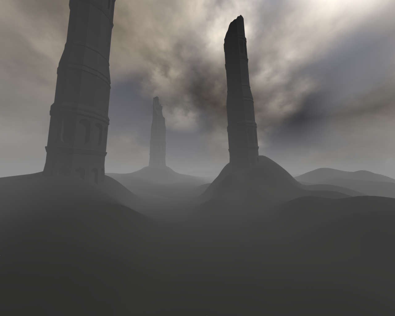 tower ruins by panzi
