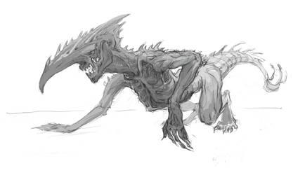 Beast-alien sketch 2