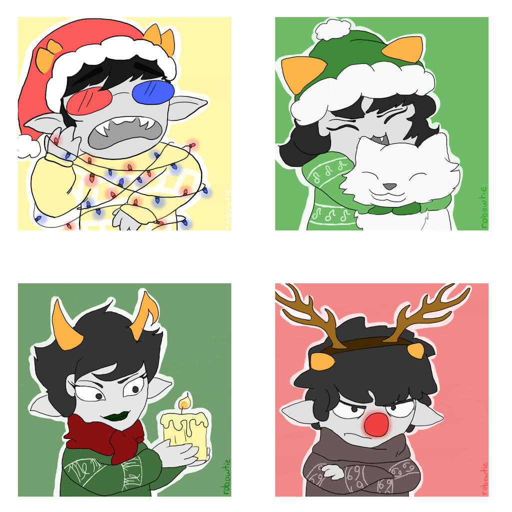 Homestuck Christmas Icons by Robogrove on DeviantArt