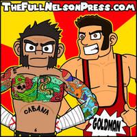 CM Punk + Colt Cabana (2014) by TheFullNelsonPress