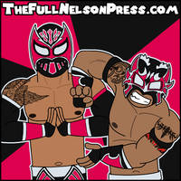 The Lucha Dragons (2015 WWE Elimination Chamber) by TheFullNelsonPress