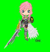 FFXIII-2 Lightning Pixel Doll by Kari--Koboyashi