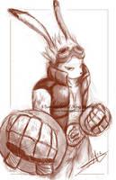 Sketch: King Kazma by LluhnarDragon