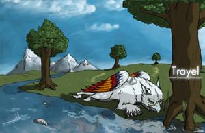 Commission: Spring Trayel by LluhnarDragon