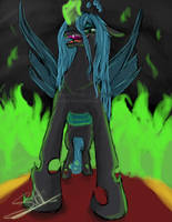Queen Chrysalis~This day WILL be perfect! by LluhnarDragon