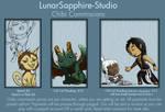 Chibi Commissions by LluhnarDragon