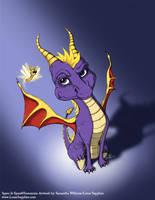 Spyro the Old school Hero by LluhnarDragon
