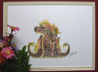 Chibi Flame Dragons by LluhnarDragon