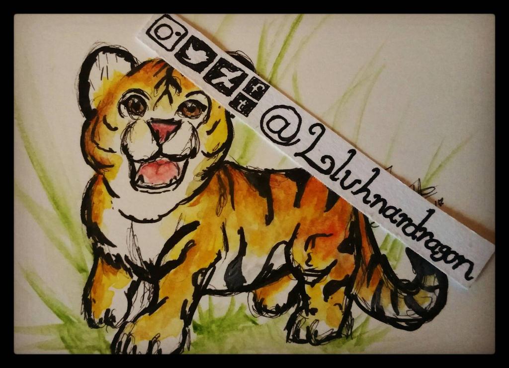 Young Tiger by LluhnarDragon