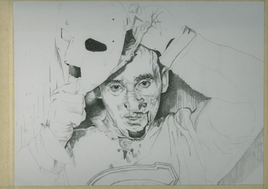 Jacques Plante: Jacques Plante ( Hockey Series) WIP2 By Jeanfverreault On
