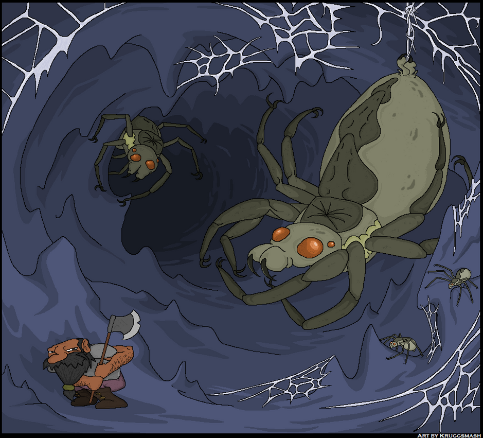Giant Cave Spider Dwarf Fortress Giant Cave Spider by k...