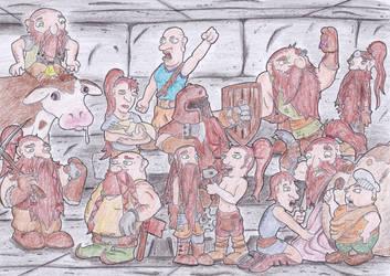 The Dwarves of Ushangvagush by kruggsmash
