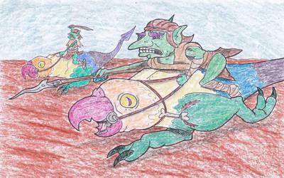 Goblins and Beakdogs by kruggsmash