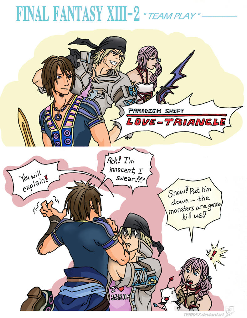 Final Fantasy XIII-2 Team Play by Terra7
