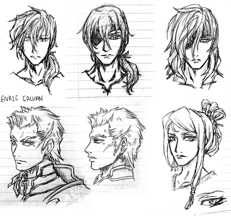 Galvan -Character Sketches by Terra7 on DeviantArt