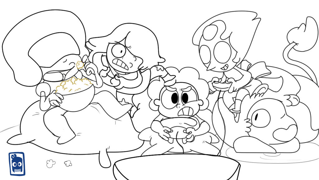Fnaf Comic Page 1 Uncolored By Statza On Deviantart