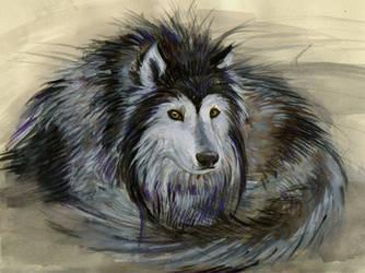 alaskan malamute orginal draw by Sayrel