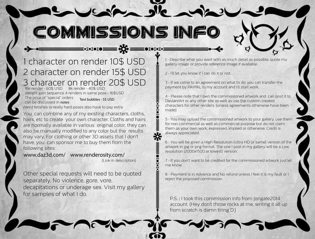 Commissions Info