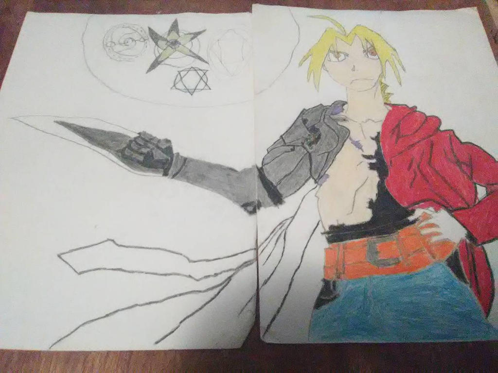 Really Old Art Part 4 a unfinished Edward Elric by Kronostitan100