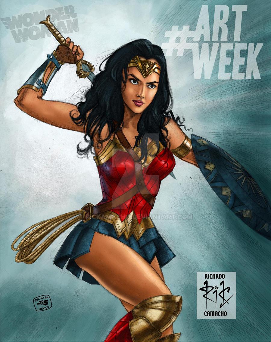 Wonder Woman Gal Gadot por rickamacho by rickamacho