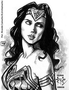 Gal Gadot as Wonder Woman by rickamacho