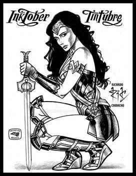 Wonder Woman-Gal Gadot BN, by rickamacho