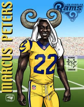 Marcus Peters of Los Angeles Rams por rickamacho