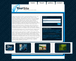 Blue portfolio layout by maz2390