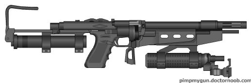 AP-SMG 176 (Anti-personnel Submachine Gun #176) by Ion-The-Agumon