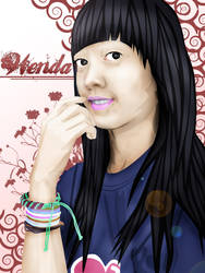 Alone Vectored Girl by 91hoshi