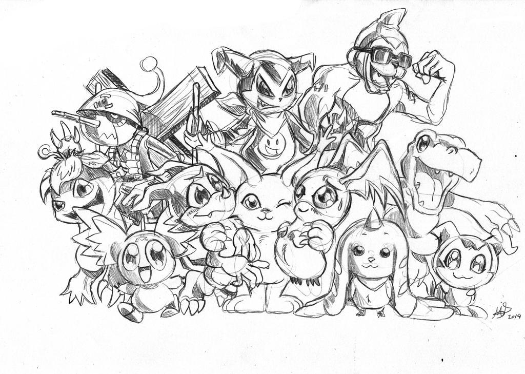 Homenaje a 15 Aniv. de Digimon (Hecho por mariods) by Chistoso-TheJoke