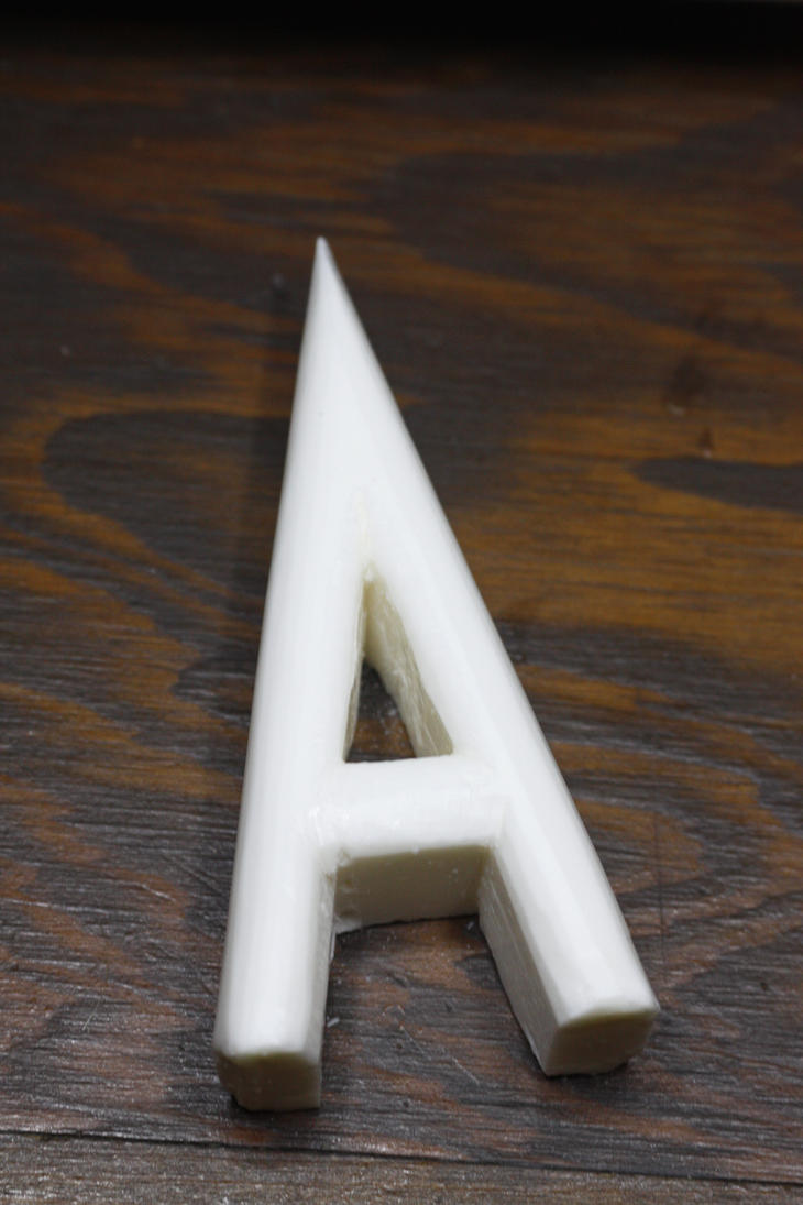 Capital A Speedcarving by awadd