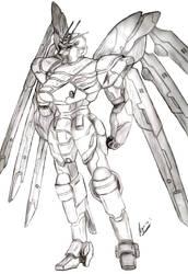 Nu Gundam Ver. Alpha by AegisKHAOS