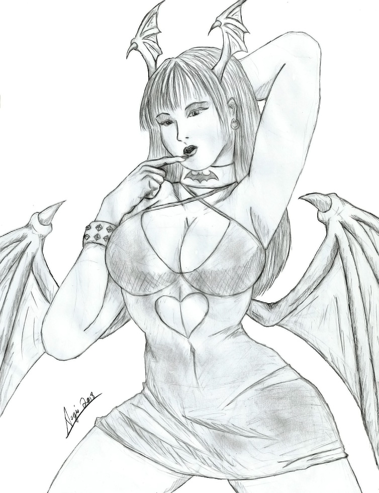 morrigan_aensland__again__by_aegiskhaos-