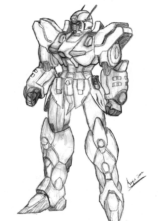 Prototype Genesis Gundam by AegisKHAOS