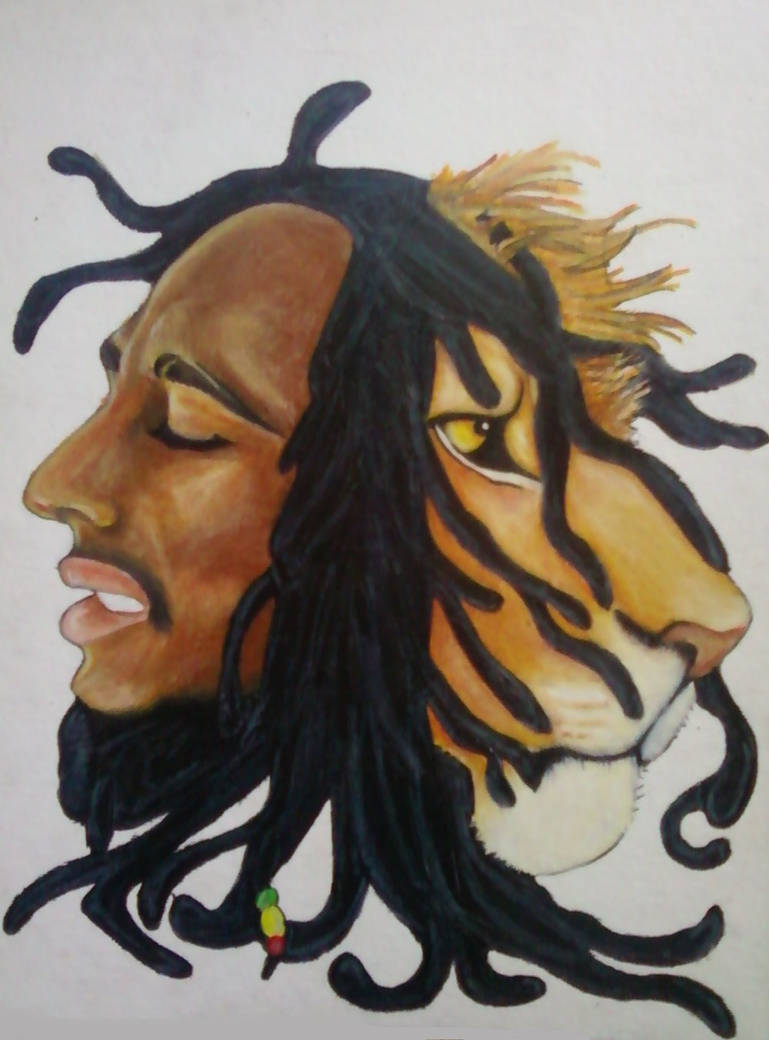 Bob Marley And Lion By Greendayperson On Deviantart