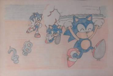 Happy Birthday Sonic by DashKnife-edge