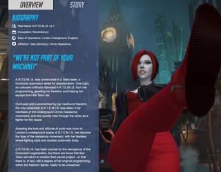 Overwatch OC - A.R.T.E.M.I.S. Story by cornerofthemind