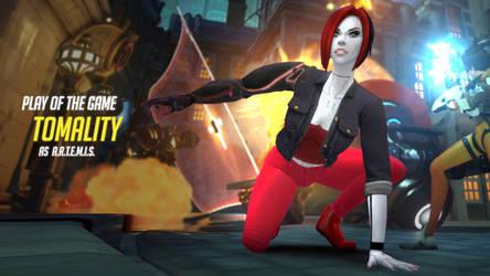 Overwatch OC - A.R.T.E.M.I.S. POTG by cornerofthemind