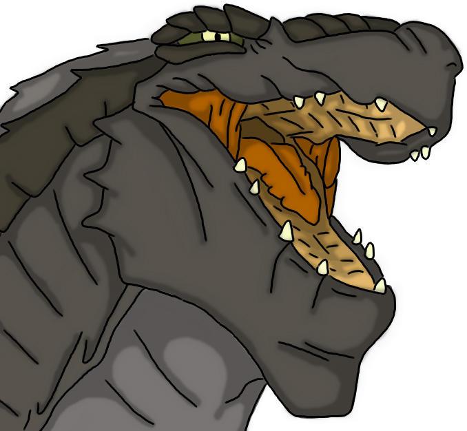 Godzilla '98 Headshot by Arcty