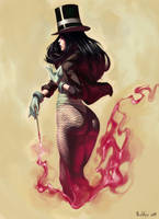 Zatanna colors by boscopenciller
