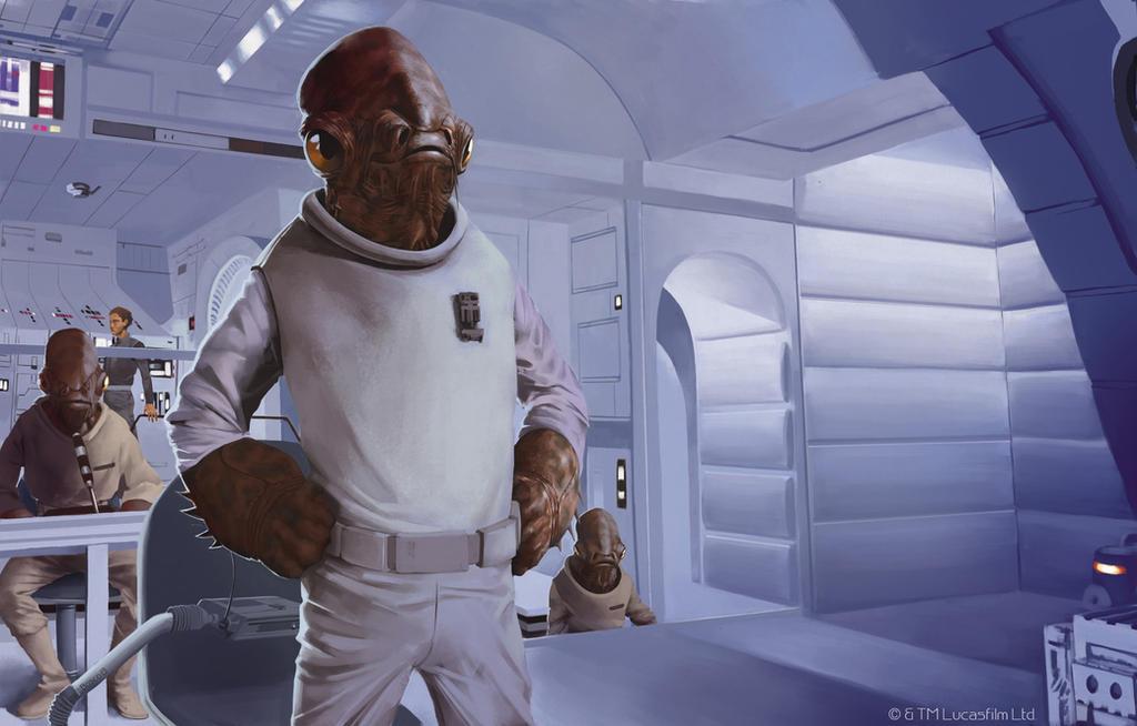 Admiral Ackbar by boscopenciller