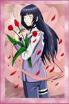 Hinata with flowers