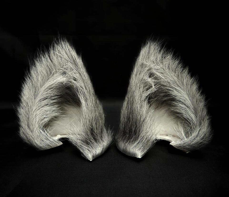 Grey Cat Ears Costume