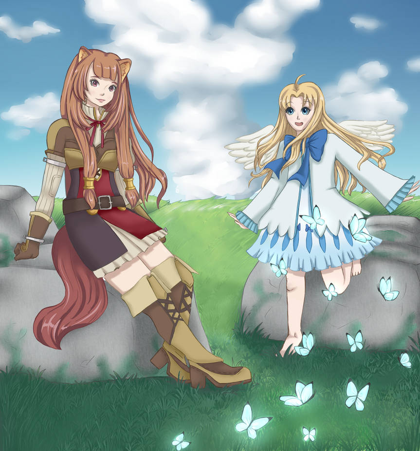 The rising of the shield hero raphtalia and filo by sparkumiart on deviantart - The rising of the shield hero raphtalia ...
